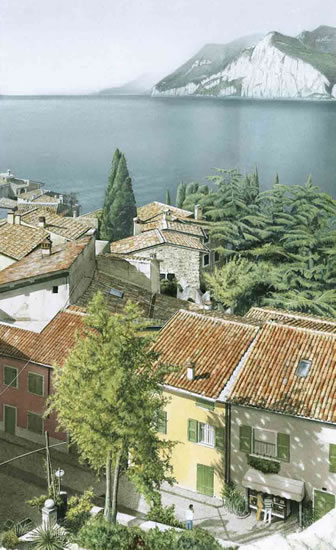 Lake Garda - Fine Art Watercolour painting